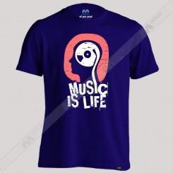 تیشرت Music is life