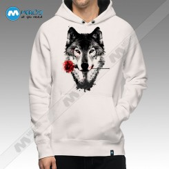 سویشرت Wolf In Love White Version
