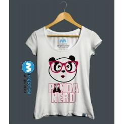 تیشرت دخترانه Panda Nerd Girl