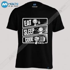 تیشرت طرح Eat Sleep Code