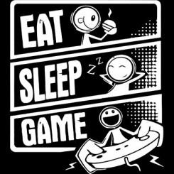 تیشرت طرح Eat Sleep Game