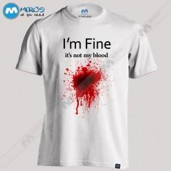 تیشرت طرح it's not my blood