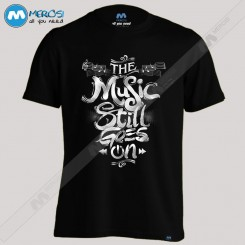 تیشرت طرح Music Stll Goes On