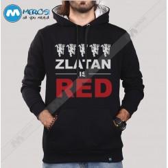 سویشرت Zlatan Is Red Text