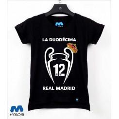 تیشرت دخترانه Real Madrid DUODECIMA