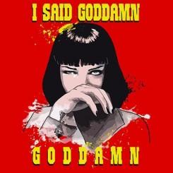 تیشرت Pulp Fiction God Damn2