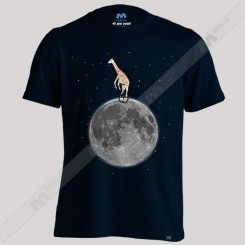 تیشرت Giraffe on a Unicycle on the Moon