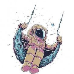 تیشرت Astronaut Swinging on the Moon