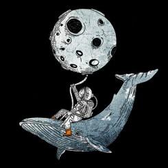 تیشرت Astronaut and humpback whale