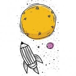 تیشرت Cosmic Sky Pencil Rocket