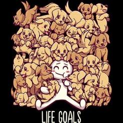 تیشرت Life Goals - Golden