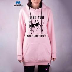 سویشرت دخترانه صورتی Fluff Cat