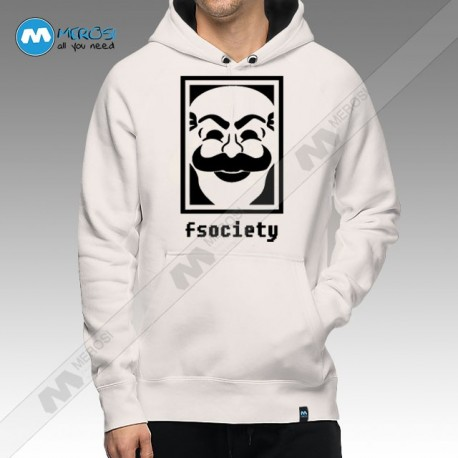 سویشرت Fsociety Face Logo