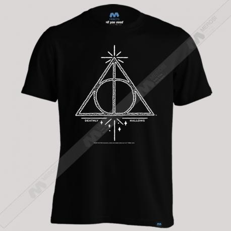 تیشرت طرح Harry Potter Deathly Hollows Line Art