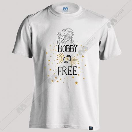 تیشرت طرح Harry Potter Dobby Is Free