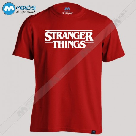 تیشرت Stranger Things White Logo