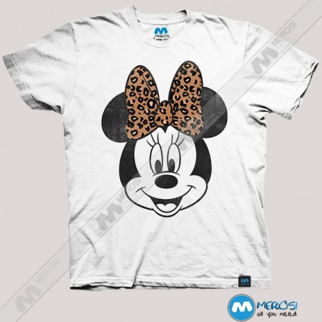 تیشرت Minnie Mouse Leopard Bow Big Face