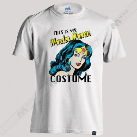 تیشرت طرح This Is My Wonder Woman Costume