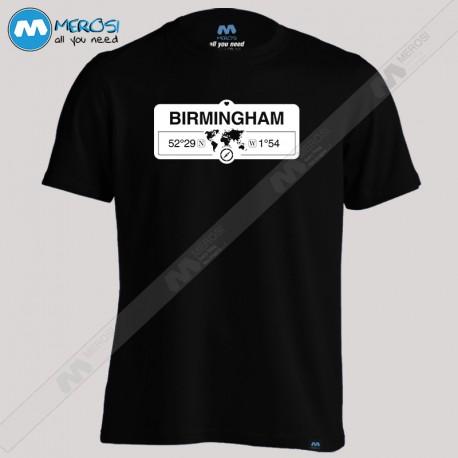تیشرت Birmingham England GPS Coordinates Map