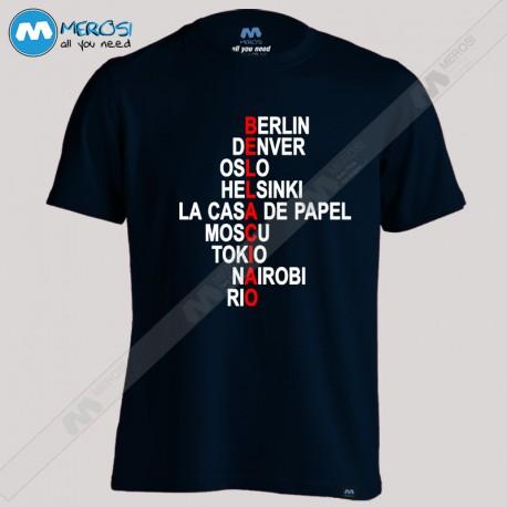 تیشرت La Casa De Papel Names