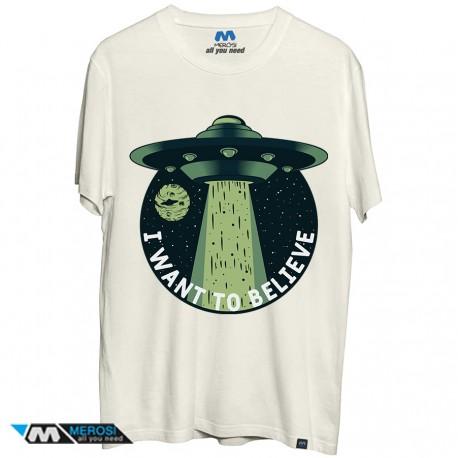 تی شرت طرح I want to believe