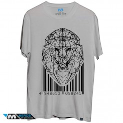 تیشرت lion low-poly with barcode
