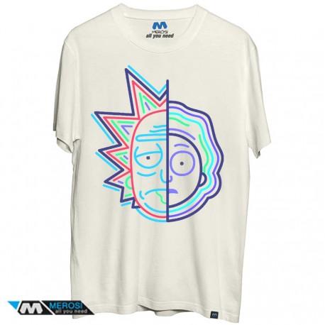تیشرت Rick & Morty neon face