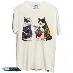 تیشرت Japanese art cats