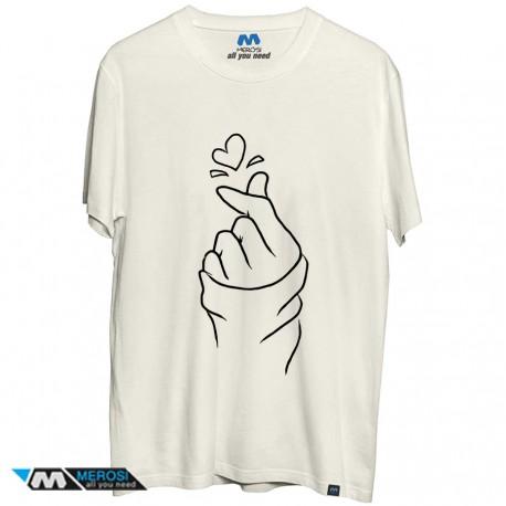 تیشرت Korea finger heart