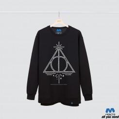 آستین بلند دورس Harry Potter Deathly Hallows Line Art Symbol