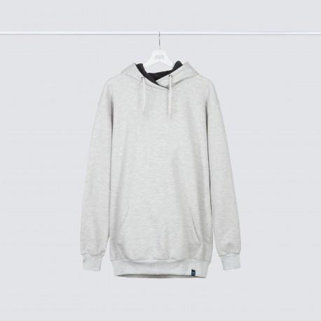 سویشرت بدون طرح رنگ ملانژ آلمانی