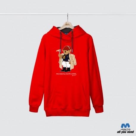 هودی قرمز Polo Bear