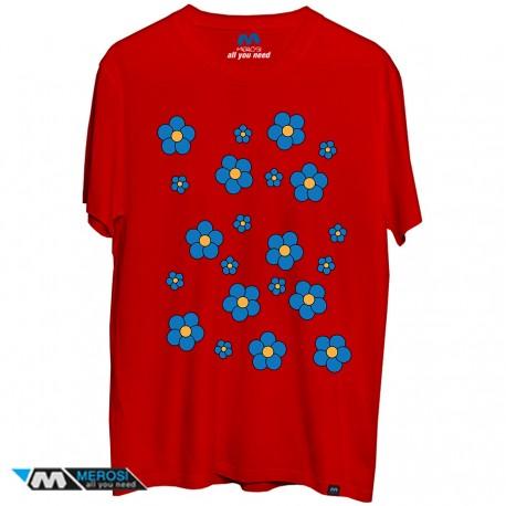 تیشرت blue flowers