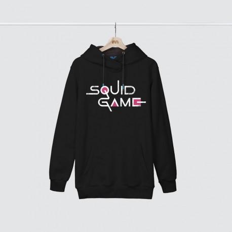 هودی مشکی Squid Game English Logo White