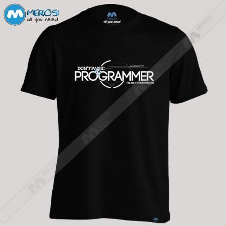 تیشرت طرح Programmer dont panic