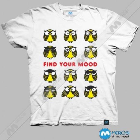 تیشرت طرح Owls Find your mood