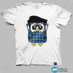 تیشرت طرح Owl Hipster