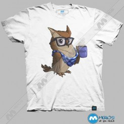 تیشرت طرح Hipster Owl