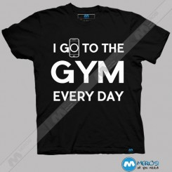 تیشرت طرح Go TO Gym