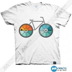 تیشرت طرح Bicycle Landscape