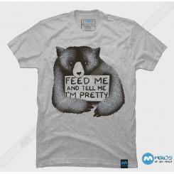 تیشرت طرح Feed Me And Tell Me
