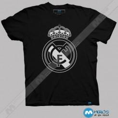 تیشرت لوگوی رئال مادرید Black & White