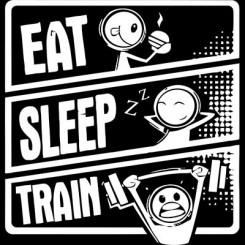 تیشرت طرح Eat Sleep Train