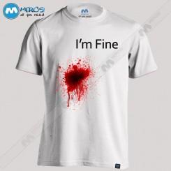 تیشرت طرح I'm Fine