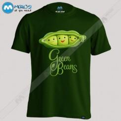 تیشرت طرح Green Beans