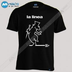تیشرت طرح La Linea Logo