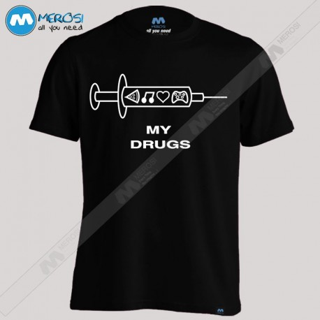 تیشرت طرح Music Is My Drug - Love Music