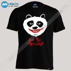 تیشرت طرح why so serious panda
