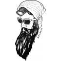 تیشرت طرح Because Beard