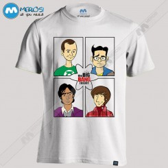 تیشرت طرح Big Bang Theory Faces
